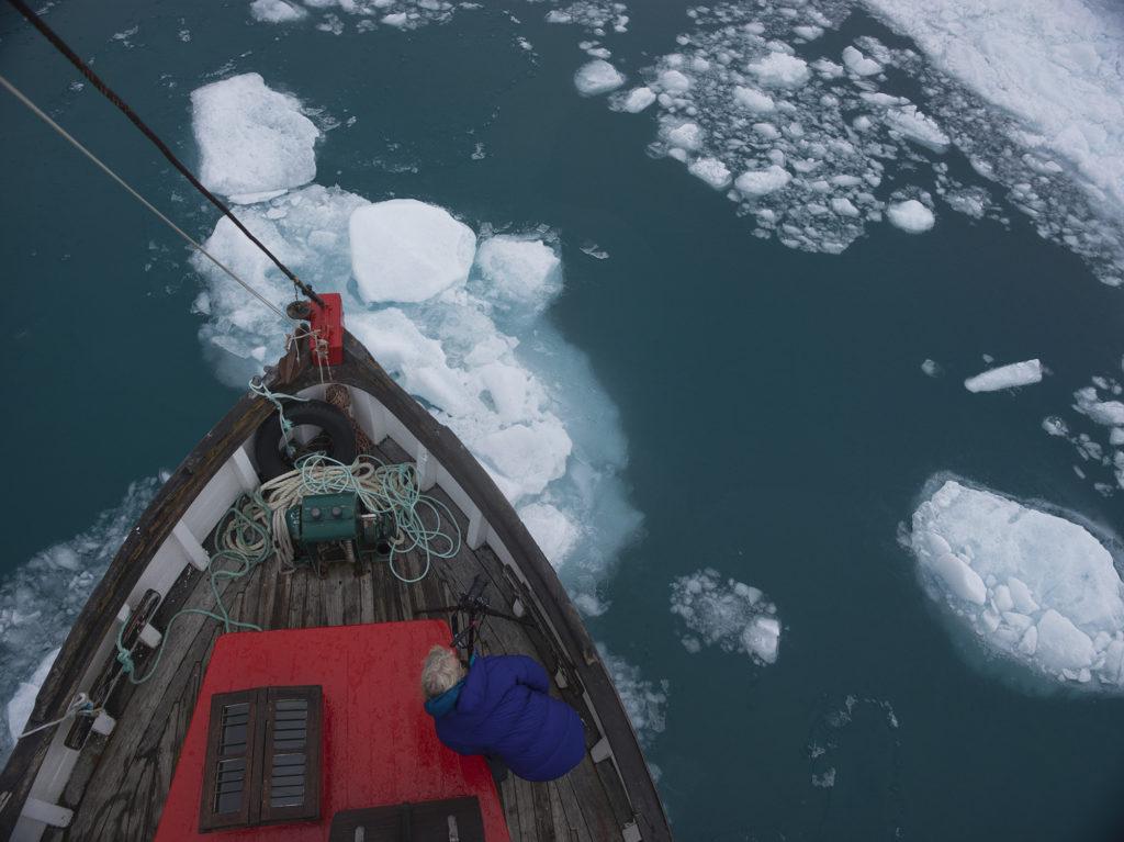 Mariele Neudecker on location in Greenland, 2015.
